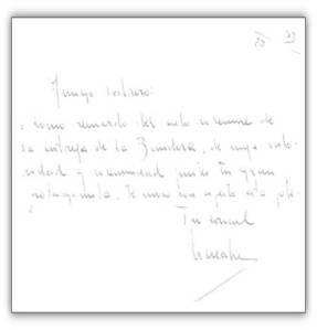 Carta del coronel Lacalle