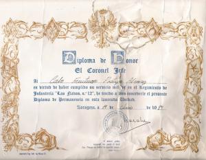Diploma Las Navas